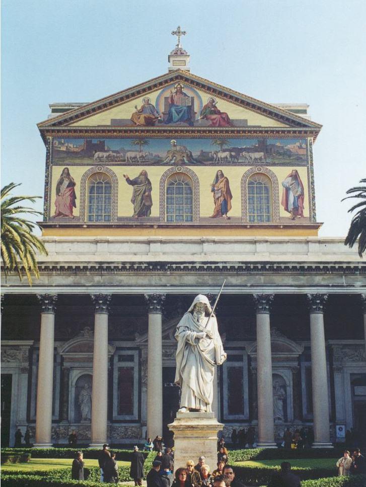 Basilique de Saint Paul à Rome dans église SanPaolo-facciata-727x968-75dpi